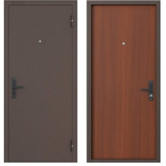 Стальная входная дверь Бульдорс-1 Гладкий лесной орех