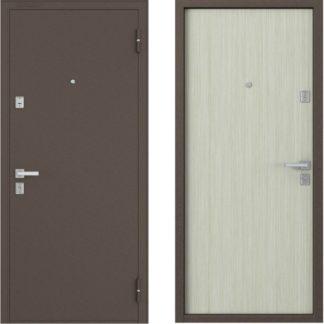 Металлическая дверь Бульдорс-12 Гладкий дуб беленый