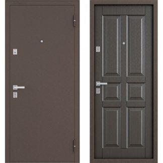Металлическая дверь Бульдорс-12С Орех темный