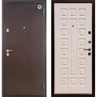 Белая входная дверь Бульдорс-13 Шамбори светлый