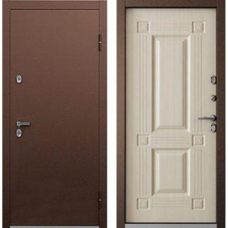 Входная металлическая дверь Бульдорс TERMO-1 Дуб крем