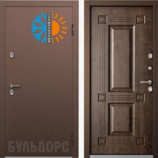 Металлическая дверь Бульдорс TERMO-1 Орех грецкий