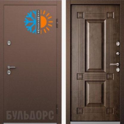 Входная термо дверь Бульдорс TERMO-2 Орех грецкий