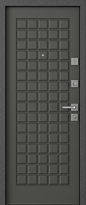 Стальная входная дверь с зеркалом Mastino Marke/Mare Дуб графит