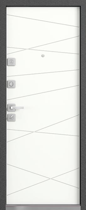 Входная дверь Mastino Monte Белый софт