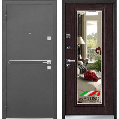 Металлическая дверь с зеркалом Mastino Parko/Cielo Венге