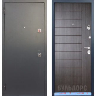 Металлическая дверь Бульдорс-44 Конструктор Ларче темный