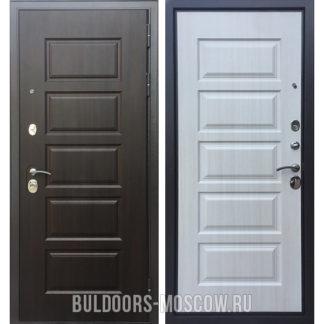 Металлическая входная дверь Бульдорс Комбат-5 Ларче шоколад V-10/Ларче бьянко V-10