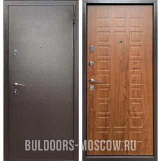 Входная стальная дверь Бульдорс Econom Букле шоколад/Дуб золотой Е-110