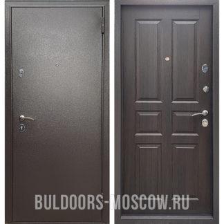 Входная металлическая дверь Бульдорс Econom Букле шоколад/Ларче шоколад С-2