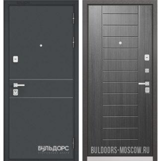 Стальная дверь Бульдорс PREMIUM-90 Черный шелк D-14/Дуб серый 9P-137 в Москве