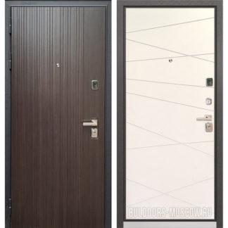 Металлическая входная дверь Бульдорс PREMIUM-90 Ларче темный 9Р-131/Белый софт 9P-130