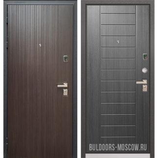 Входная дверь Бульдорс PREMIUM-90 Ларче темный 9Р-131/Дуб серый 9P-137