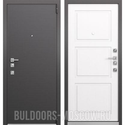 Стальная дверь Mastino Forte Конструктор MS-100 Графит горизонт/MS-104 Синхропоры милк