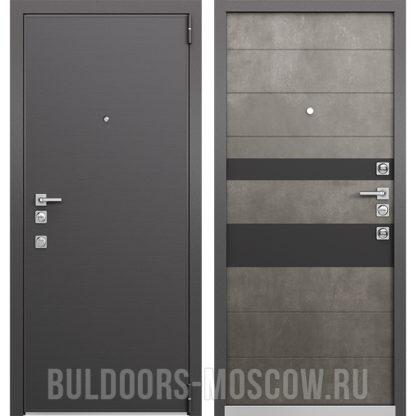 Заказать металлическую дверь Mastino Forte Конструктор MS-100 Графит горизонт/MS-118 Бетон Темный