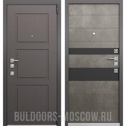 Входная железная дверь Mastino Forte Конструктор MS-104 Синхропоры модерн/MS-118 Бетон Темный