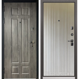 Заказать входную светлую дверь Бульдорс PREMIUM-90 Дуб шале серебро 9Р-115/Ларче бьянко 9P-131