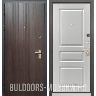 Металлическая дверь Бульдорс PREMIUM-90 Ларче темный 9Р-131/Дуб белый матовый 9PD-2 по выгодной цене