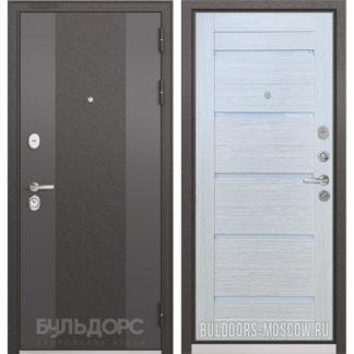 Входная железная дверь Бульдорс STANDART-90 Черный шелк 9К-4/Ларче Бьянко CR-3