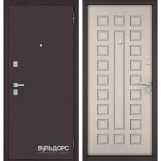 Стальная дверь Бульдорс Mass-70 Букле шоколад/Ларче бьянко М-110