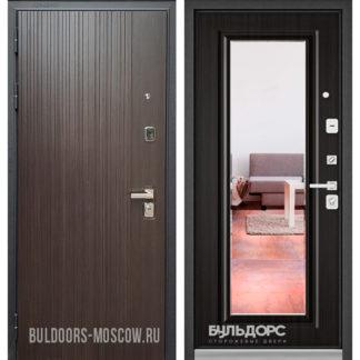 Купить стальную дверь с зеркалом Бульдорс PREMIUM-90 Ларче темный 9Р-131/Ларче темный 9P-140, mirror