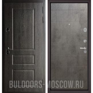 Металлическая дверь Бульдорс STANDART-90 Дуб графит 9SD-2/Бетон темный 9S-135