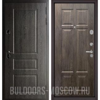 Стальная дверь Бульдорс STANDART-90 Дуб графит 9SD-2/Дуб шале серебро 9S-109