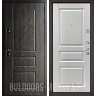 Заказать стальную дверь Бульдорс STANDART-90 Дуб графит 9SD-2/Ларче белый 9SD-2