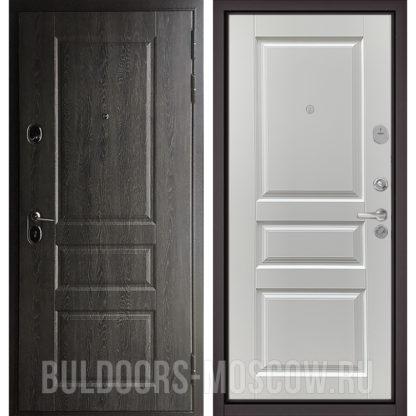 Заказать стальную дверь Бульдорс STANDART-90 Дуб графит 9SD-2/Дуб белый матовый 9SD-2