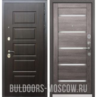 Стальная входная дверь Бульдорс Mass-90 Ларче шоколад 9S-108/Дуб дымчатый CR-3