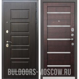 Стальная дверь Бульдорс Mass-90 Ларче шоколад 9S-108/Дуб темный CR-3