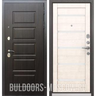 Железная входная дверь Бульдорс Mass-90 Ларче шоколад 9S-108/Дуб жемчужный CR-3