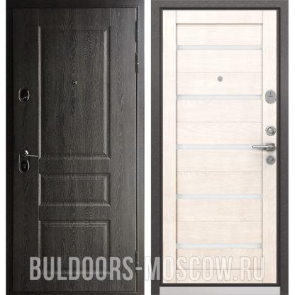 Металлическая дверь Бульдорс STANDART-90 Дуб графит 9SD-2/Дуб жемчужный CR-3 в Москве