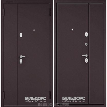 Входная двустворчатая дверь Бульдорс Mega Букле шоколад