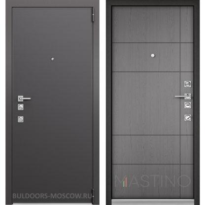 Входная дверь Mastino Forte Конструктор MS-100 Графит горизонт/MS-114 Синхропоры титан