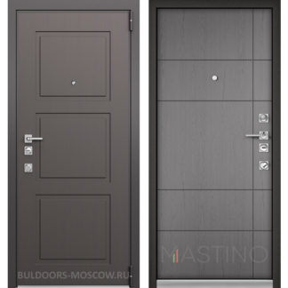 Входная дверь Мастино Forte Конструктор MS-104 Синхропоры модерн/MS-114 Синхропоры титан
