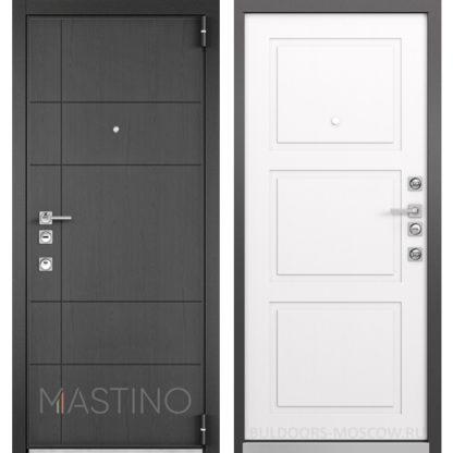 Купить металлическую дверь Mastino Forte Конструктор MS-114 Синхропоры графит/MS-104 Синхропоры милк