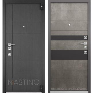 Стальная дверь Мастино Форте Конструктор MS-114 Синхропоры графит/MS-118 Бетон Темный