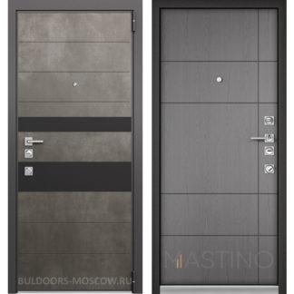 Купить в Москве входную металлическую дверь Mastino Форте Конструктор MS-118 Бетон Темный/MS-114 Синхропоры титан