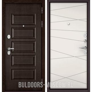 Купить металлическую дверь Бульдорс Масс-90 Ларче шоколад 9S-108/Белый софт 9S-130