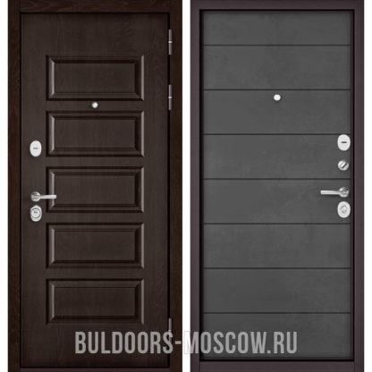 Входная железная дверь Бульдорс Mass-90 Ларче шоколад 9S-108/Бетон темный 9S-135