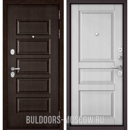 Металлическая входная дверь Бульдорс Mass-90 Ларче шоколад 9S-108/Дуб белый матовый 9SD-2