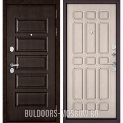 Купить стальную дверь Бульдорс Mass-90 Ларче шоколад 9S-108/Ларче бьянко 9S-111
