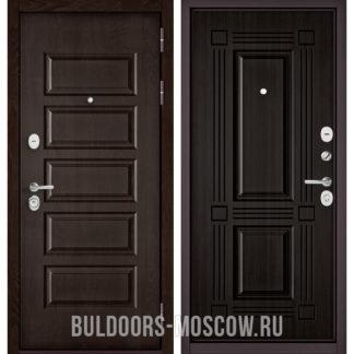 Металлическая дверь Бульдорс Mass-90 Ларче шоколад 9S-108/Ларче темный 9S-104