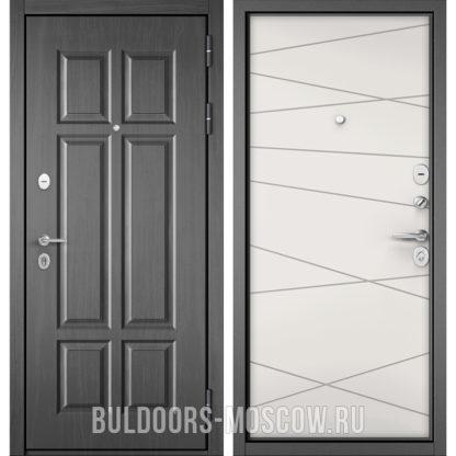 Железная входная дверь Бульдорс Mass-90 Бетон темный 9S-109/Белый софт 9S-130