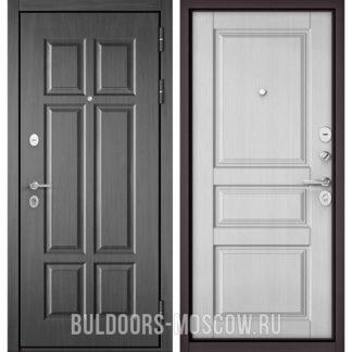 Входная дверь Бульдорс Масс-90 Бетон темный 9S-109/Дуб белый матовый 9SD-2