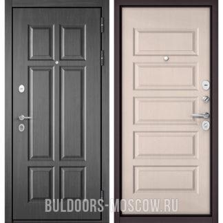 Железная дверь Бульдорс Mass-90 Бетон темный 9S-109/Дуб светлый матовый 9S-108