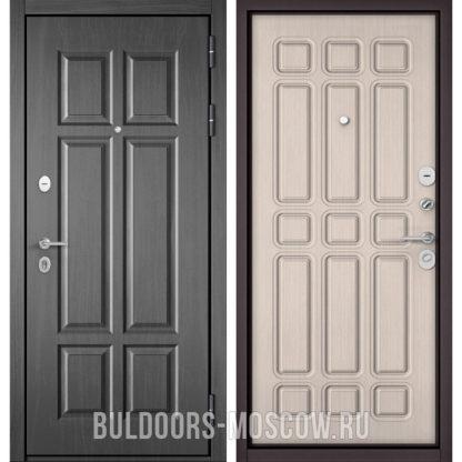 Стальная входная дверь Бульдорс Масс-90 Бетон темный 9S-109/Ларче бьянко 9S-111