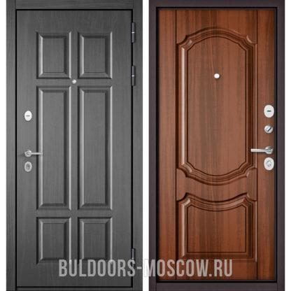 Купить стальную дверь Бульдорс Mass-90 Бетон темный 9S-109/Орех лесной 9SD-4