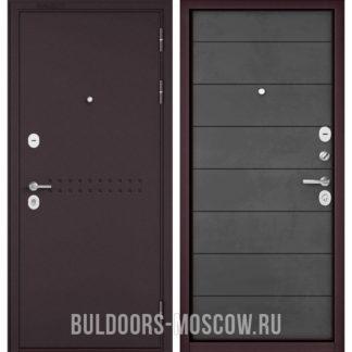 Входная стальная дверь Бульдорс Mass-90 Букле шоколад R-4/Бетон темный 9S-135